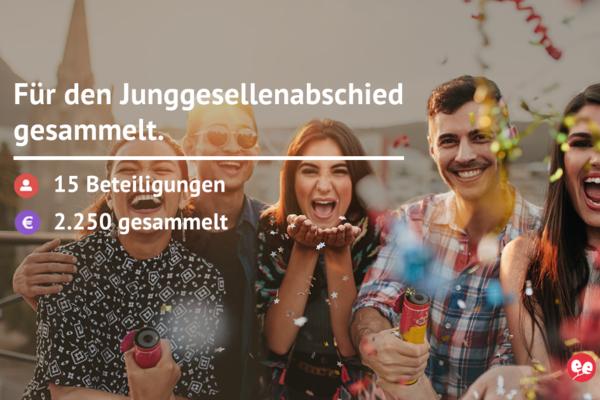 Geld für den JGA Düsseldorf einsammeln